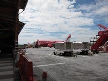 亚洲航空飞机 库存照片