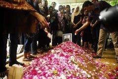 亚洲航空飞行事故遇难者葬礼  库存照片