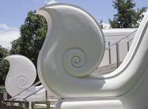 亚洲艺术扶手栏杆头 库存图片