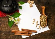 亚洲茶食谱 库存照片