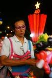 亚洲街道艺术家,可笑的ballloon 库存图片