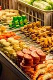 亚洲街道食物选择 图库摄影