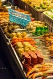 亚洲街道食物选择 免版税库存照片