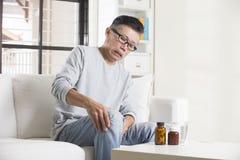亚洲资深男性 免版税库存图片