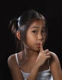 亚洲逗人喜爱的女孩一点 免版税图库摄影