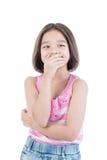 亚洲逗人喜爱的女孩身分画象  库存图片