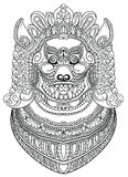 亚洲邪魔狗或狮子 库存例证