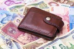 亚洲金钱背景 免版税图库摄影