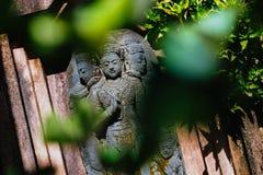 亚洲雕象在庭院里 库存照片