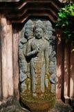 亚洲雕象在庭院里 免版税图库摄影