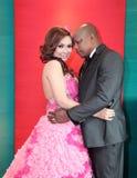 亚洲非洲婚礼夫妇 库存照片