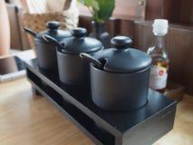 亚洲面条调味料 免版税图库摄影