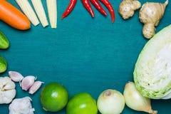 亚洲食品成分背景 库存照片