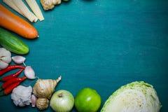亚洲食品成分背景 免版税库存照片