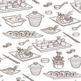 亚洲食物传染媒介例证 免版税库存图片