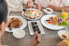 亚洲食物炒饭传统蔬菜 库存图片