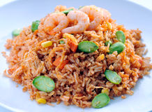 亚洲食物炒饭 免版税库存照片