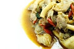 亚洲食物的关闭 免版税库存照片