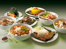 亚洲食物种类 图库摄影