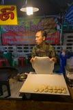 亚洲食物立场在晚上,泰国 免版税库存照片