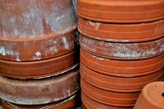 亚洲饮用的罐 免版税库存照片