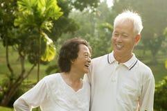 亚洲高级夫妇 库存照片