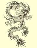 亚洲龙纹身花刺例证 免版税库存图片