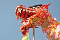 亚洲龙舞蹈 免版税库存照片