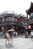 亚洲,中国,北京,前门街,商业街,步行街道 免版税库存照片