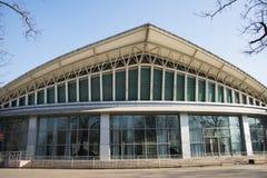 亚洲,中国,北京, longtanhu公园,现代大厦, longtan剧院 免版税库存图片