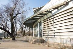 亚洲,中国,北京, longtanhu公园,现代大厦, longtan剧院 图库摄影