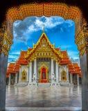 亚洲,大理石寺庙(Wat Benchamabophit),曼谷,泰国 免版税库存照片