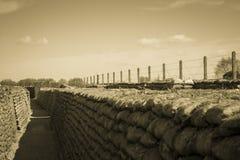 死亡世界大战1比利时富兰德沟槽调遣 免版税库存图片