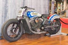 死亡侦察员印地安摩托车墙壁  库存图片