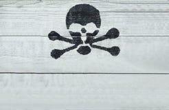 死亡和危险标志 免版税库存照片