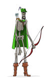 死亡的象征。罗宾汉。 免版税库存图片
