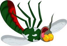 死亡蚊子动画片 免版税库存图片