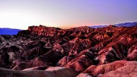 死亡谷外型 免版税图库摄影