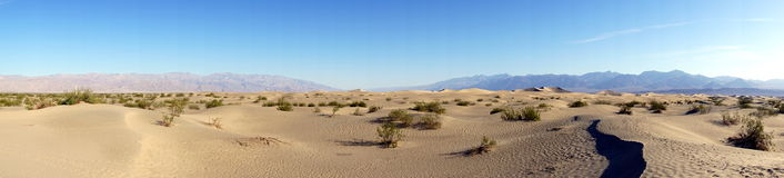 死亡谷沙漠 免版税库存照片