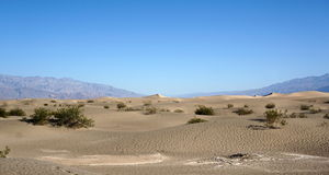 死亡谷沙漠 库存图片