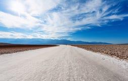 死亡谷盐沙漠  免版税库存图片