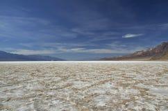 死亡谷-坏水水池 免版税图库摄影