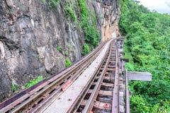 死亡铁路,在北碧泰国的二战期间 免版税库存图片