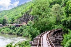 死亡铁路,在北碧泰国的二战期间 免版税库存照片