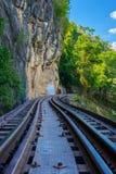 死亡铁路,被修造在二战期间,北碧泰国 免版税库存照片