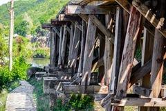 死亡铁路,被修造在二战期间,北碧泰国 免版税图库摄影