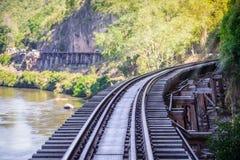 死亡铁路,被修造在二战期间,北碧泰国 库存照片
