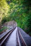 死亡铁路,被修造在二战期间,北碧泰国 免版税库存图片