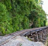 死亡铁路,被修造在二战期间,北碧泰国 库存图片