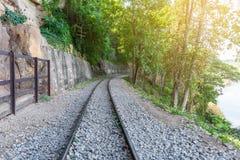死亡铁路,被修造在二战期间,北碧泰国 图库摄影